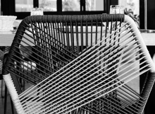 mesh chair_bw